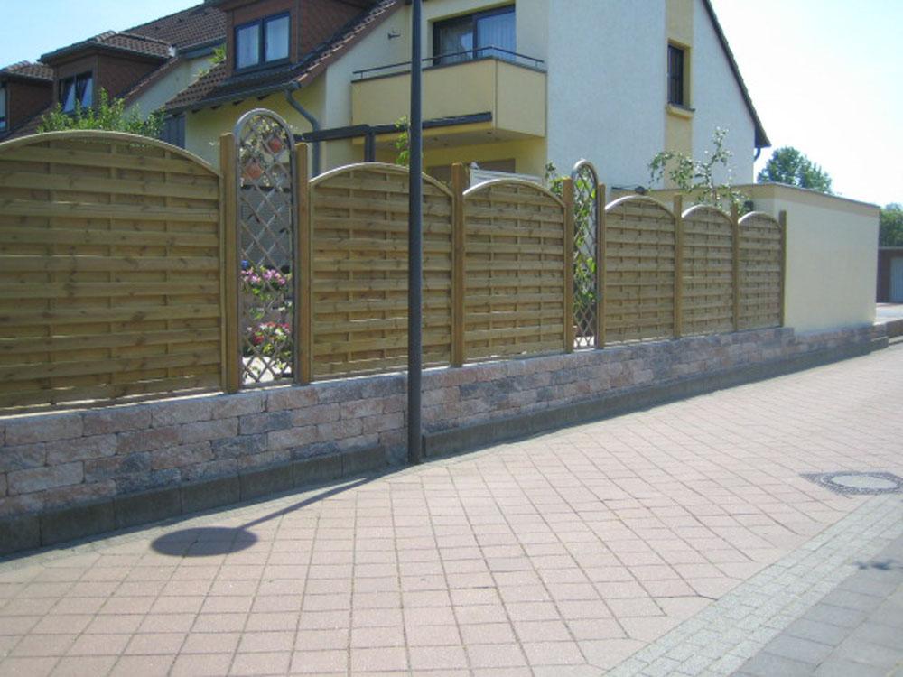 ... ein schöner Zaun macht Eindruck.