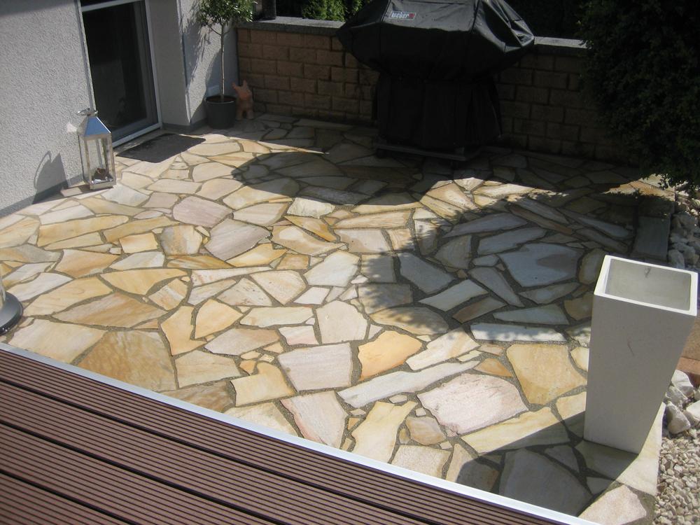Polygonale Terrassenplatten